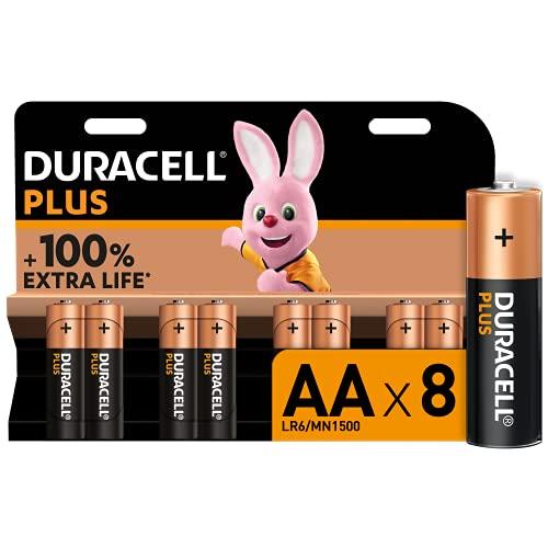 Duracell - NUOVO Plus AA, Batterie Stilo Alcaline, confezione da 8, 1.5 volt LR6 MN1500