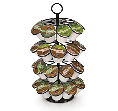 Find Bargain 4 layers Revolving Rotating Capsule Coffee Pods Holder 36 pods k-cup docle gusto compat...