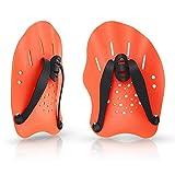 FANDE Nuoto Palette a Mano, Sussidio Di Nuoto Di Formazione Piatto Pagaie Swim Formazione Con Cinghie Regolabili Per Il Nuoto, per l'allenamento del Nuoto Uomini e Donne