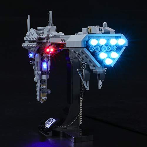 BRIKSMAX Kit de iluminación LED Lego Star Wars Fragata Nebulon-B - Compatible con Lego 77904 Building Blocks Model- No incluir el Conjunto de Lego