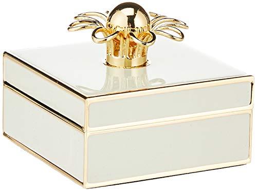 KATE SPADE Keaton Street Cream Jewelry Box, 0.65 LB, Ivory