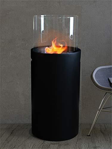 34 cm x 34 cm x 86,5 cm, 1 litro, color negro Chimenea de bioetanol Moritz