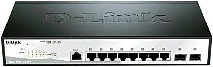 D-Link 10-Port Gigabit Smart Managed, 8 10/100/1000BASE-T and 2 1G SFP Ports L2 Managed Metro Ethernet Switch (DGS-1210-10/ME)