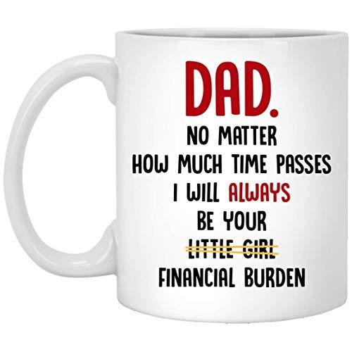 N\A Papa egal wie viel Zeit vergeht Ich werde Pami Geschenk Immer Dein kleines Mädchen Sein Finanzielle Lastbecher Geschenk Vatertagsbecher Papa GIF