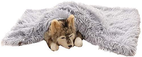 1pc Huisdier Deken Warm Puppy Kat Slaap Bed Deken Puppy Zacht Bed Mat Cover Pet Levert Winter Hond Bed Mat Fleece Pet Kussen (Color : A, Grootte : 55x35x2cm) S55x35cm B
