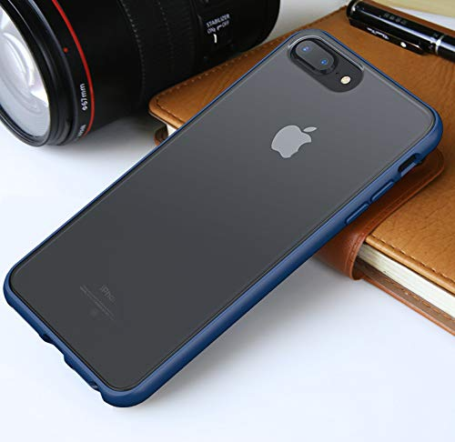 IPAKY Cover di Protezione per iPhone 6 & iPhone 7 & iPhone 8 / Custodia Morbida cuColore Posteriore Semi Trasparente Contorno colorato (TPU Frame+Frosted Semitrasparente PC Back)