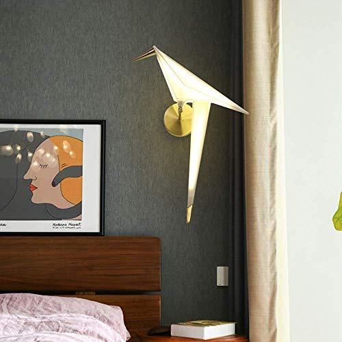 Mkjbd Wandlaterne Gartenlampe Wandleuchte Wandleuchte Nordic Paper Crane Vogel Led Wandleuchten Moderne Minimalistische Wohnzimmerlampen Nachttischlampen Tv-Lampen Wandlampen Kreativlampen 40 X 20 X