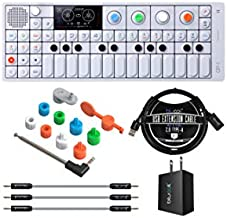 Teenage Engineering OP-1 Portable Synthesizer, Sampler, and Controller Bundle with OP-1 Accessory Kit, Blucoil USB Wall Adapter, 3-FT USB 2.0 Type-A Extension Cable, and 3-Pack of 7