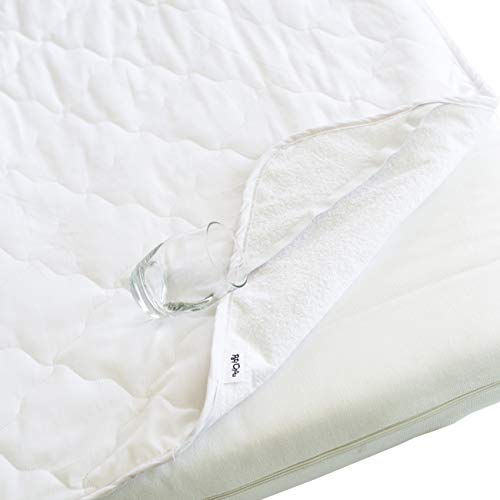 Pati'Chou - Waterproof Silent Mattress Protector, 100% Cotton Fabric for Cot Bed and Toddler 60 x 120 cm or 70 x 140 cm