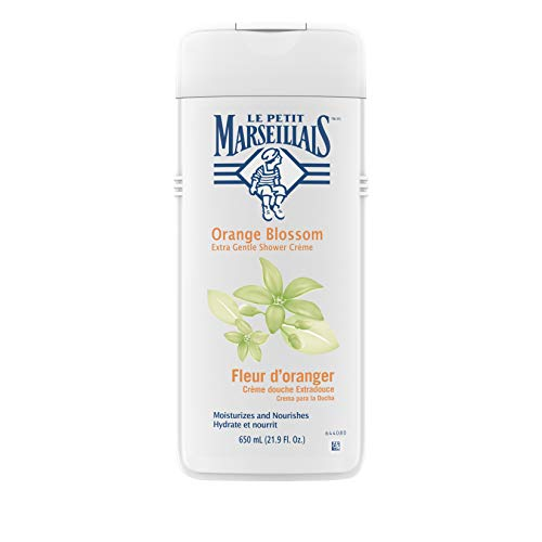 Le Petit Marseillais Extra Gentle Shower Cr?me with Orange Blossom, Moisturizing & Nourishing French Body Wash for pH Neutral for Skin, 21.9 fl. oz