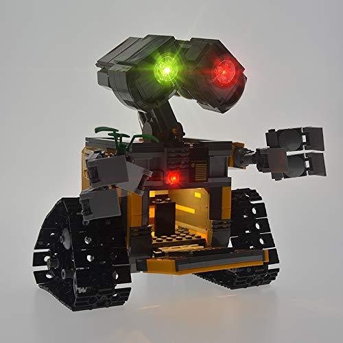LED Light Kit para (Ldeas Wall E) Bloques De Construcción, Bricolaje Iluminación De Fondo Compatible con Lego 21303 (Lego Set No Está Incluido)