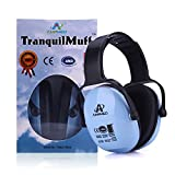 Hearing Protection Earmuff/Headphone for Toddlers, Kids, Teens, and Adults. Amplim Noise Cancelling Headphones, Earmuffs for Kids Ear Defenders - Airplane, Concert, Outdoor, Lawn Mower - Blue