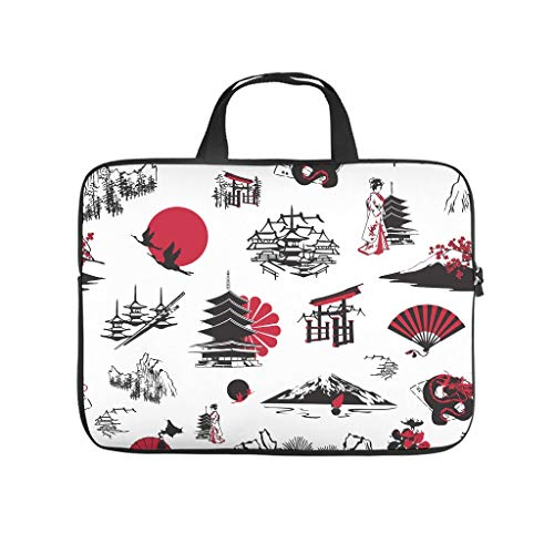 Culture Laptop Bag Waterproof Protective Case for Laptops Pattern Notebook Bag for University Work Business