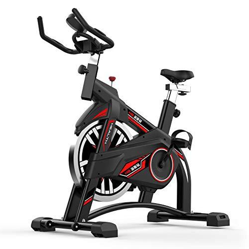 Indoor Cycling Heimtrainer,Verstellbarer Lenker,Computer liest Geschwindigkeit Entfernung Zeit Kalorien Herzfrequenz-Sensoren, Spinning Bike für Home Use Cardio,Excersize Bike 10KG Schwungrad,Schwarz