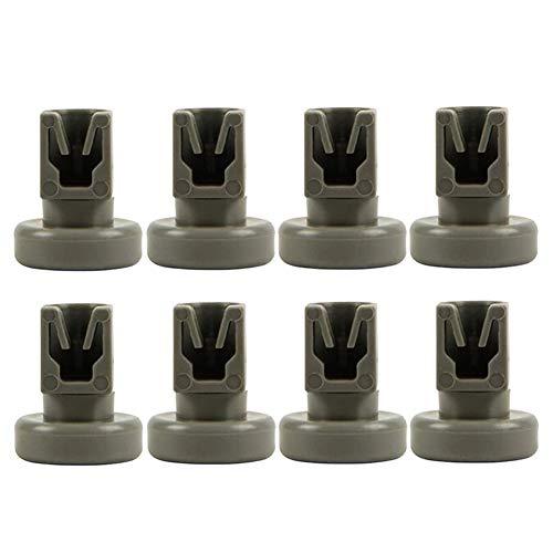 Gaoominy 8 Piezas de Repuesto de Rueda de Rejilla Superior para Lavavajillas AEG Favorit/Privileg/Zanussi