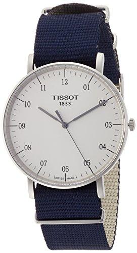 Tissot Herren Analog Quarz Everytime Large Nato Armbanduhr mit Textil Armband T1096101703700