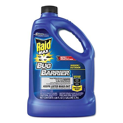 Raid 620727 Max Bug Barrier, 128 oz Bottle Refill, 4/Carton