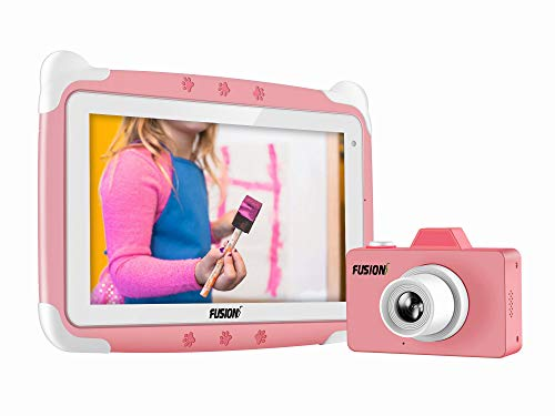 Fusion5 Kids Tablet PC and Kids Camera Combo Deal - Designed for Kids - Learn, study, fun, parental controls (Pink)