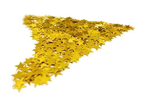 versandhop Konfetti Sterne Einhorn Herz Gold Silber Rot Blau Orange Schwarz Lila Pink Hell-Blau Grün Braun Türkis Violett 15g 45g 100g 450g 1000g (100g, Gold)