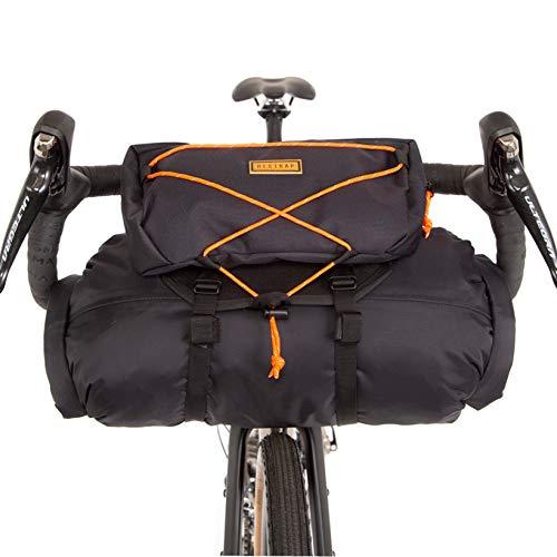 RESTRAP Sacoche bagagerie Rangement de Guidon Cintre 100% étanche, BarBag & Pouch & DryBag, Accessoires vélo, Adulte Unisexe, Noir, 15L