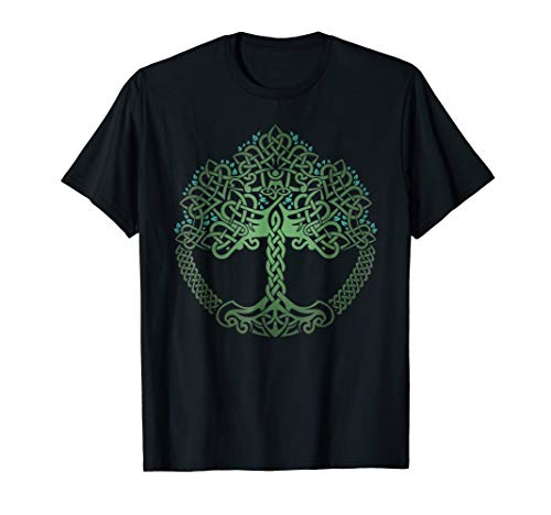 VIKING CELTIC KNOTWORK TREE OF LIFE T-SHIRT