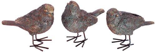 London Ornaments L02420040 Bronze Birds (Set of 3)