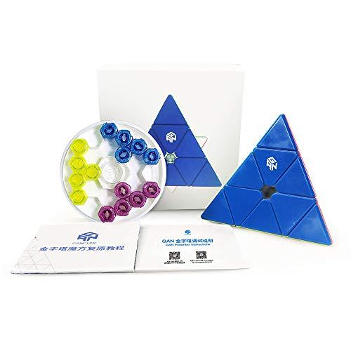 GAN Pyraminx Enhanced, 60 Imanes Speed Magnético Pirámide Puzzle Triángulo Rompecabezas con GES Extra