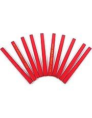 10 szt./opakowanie 175 mm ołówek stolarski ośmiokątny twardy czarny ołów czerwony stolarz ołówek do budowniczego prac drewnianych