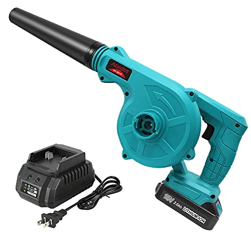 Abeden Cordless Leaf Blower,2-in-1 Electric Handheld Sweeper/Vacuum 18V 2.0 Ah Lithium Battery for Blowing Leaf,Cleaning Dust & Small Trash,Car,Computer Host,Hard to Clean Corner