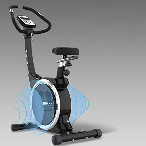 HFJKD Cyclisme en Salle Vélo, 16 Niveau De Résistance Magnétique Volant Magnétron À Deux Voies Conception Silencieuse Siège Réglable pour Bureau Gym