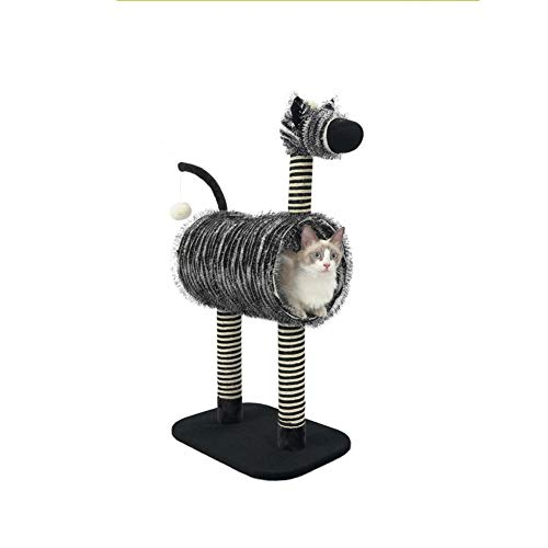Zebra-vormig Kattennest, Zomerlinnenmateriaal Cat Scratch Board-klimrek Met Nest Nature Beauty Cat Bed Pet Supplies