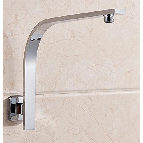 Braccio doccia quadrato rialzato a sbalzo, 30 x 30 cm