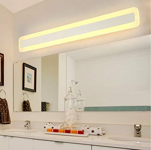80 cm moderne LED spiegellamp bad design spiegellicht metaal lichte spiegellampen acryl badkamerwandlamp badkamer make-up spiegel koud wit IP44 24W 80 * 9 * 4.5CM 1680LM [energieklasse A ]