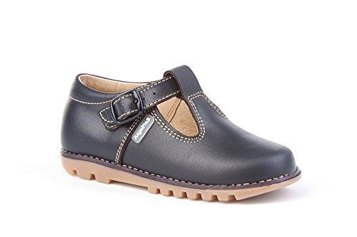 Zapatos Pepitos para niños Todo Piel mod.670. Calzado infantil Made in Spain, Garantia de calidad. (22, Azul Marino)