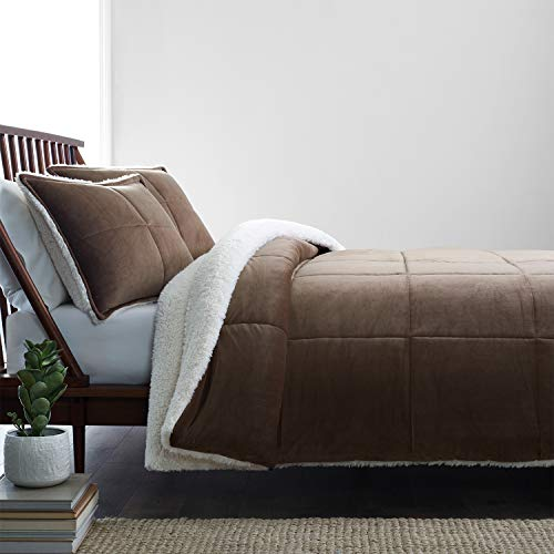 UGG Blissful Classic Reversible Comforter and Sham Set, (Fawn, Queen)