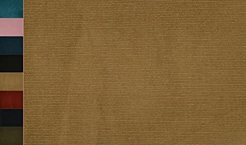 Stoffbook Tela elástica de algodón cord, E316 (beige oscuro)