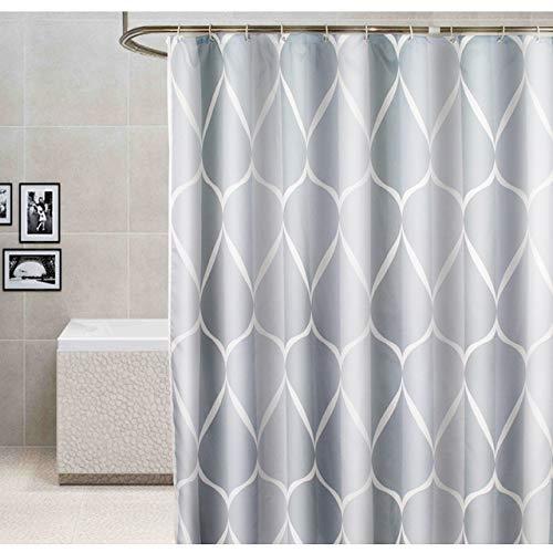 Deirdre Agnes Waterdicht en milieuvriendelijk badkamer toilet huishouden polyester douchegordijn B280cm x L200cm