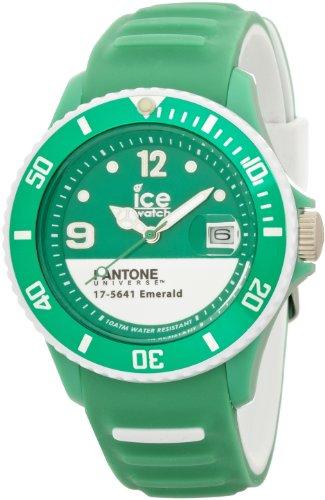 Ice-Watch Unisex-Armbanduhr Pantone Universe-Emerald White-Unisex Analog Quarz Silikon PAN.BC.EMW.U.S.13