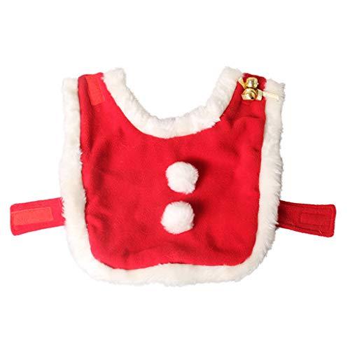 WT-DDJJK Capa de Capa, Capa de Invierno cálida para Mascotas, Gato, Disfraz de Navidad, Capa de Papá Noel con Campanas, Cosplay