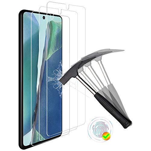 ANEWSIR 3 Stück Panzerglas Schutzfolie für Samsung Galaxy Note 20/Note 20 5G Bildschirmschutzfolie, Ultra-klar Bildschirmschutz, Anti Bläschen, Bildschirmschutz Folie für Galaxy Note 20/Note 20 5G.