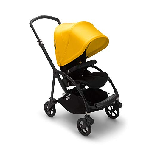 Bugaboo Bee6 Stroller - Compact, Lightweight, and Easily Foldable Stroller for Travel and City Life. Easy to Steer! The Most Popular Lightweight Stroller! (Black/Lemon Yellow)