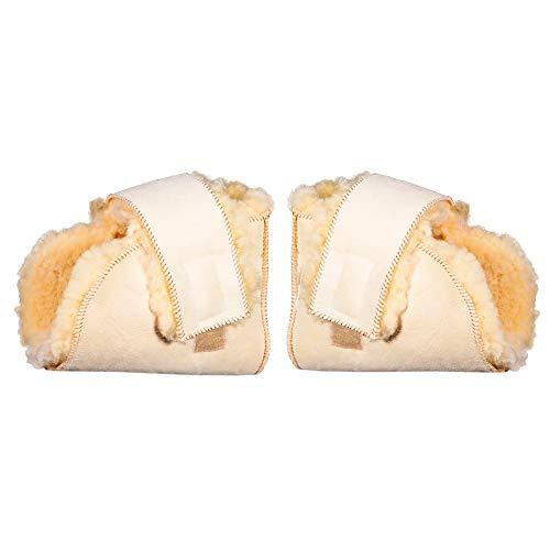 Pack de par de patucos antiescaras, Premium Lambskin, Lana natural