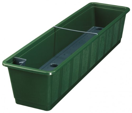 Blumenkasten AQUA GREEN mit Bewässerung aus Kunststoff, Farben:dunkelgrün 11;Länge:60 cm