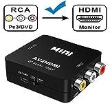 AV to HDMI コンバーター Amtake AVケーブル 変換 hdmi コンポジットをHDMIに変換アダプタ コンポジット入力 hdmi出力 AV2HDMI USBケーブル付き 音声転送 1080P対応