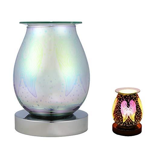 SOHOP Luz de noche de aromaterapia 3D de cristal de la vela de dormir de la luz del patrón de las alas
