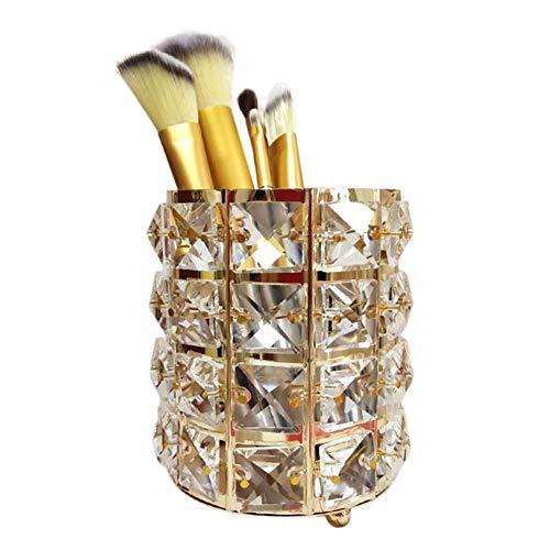 Onewell Panier de rangement pour pinceaux de maquillage en cristal pour les sourcils, crayons, maquillage