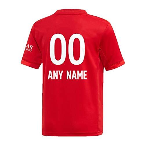 Maglia Calcio Bayern Monaco 2019/20 Lontano Replica Ordinazione Jersey, Fibra di Poliestere Prestazioni Jersey, È Possibile Progettare Il Proprio Nome E Numero, Favorite Nome della Squadra, Adulti/B