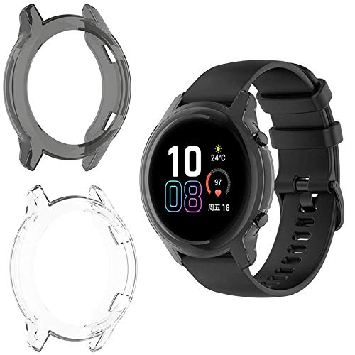 MWOOT Schutzhülle Kompatibel mit Honor Magic Watch 2 42mm Smartwatch Gehäuse Schutz [2Stk], Stoßfest Silikone Hülle Bumper