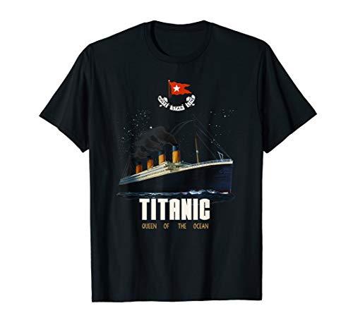 Vintage Titanic Schiff Poster T-Shirt für Mann Frau Kinder