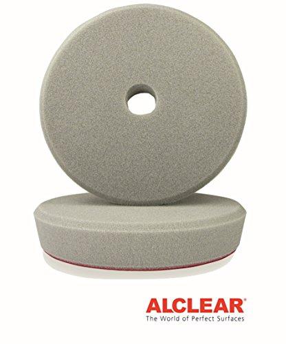 ALCLEAR Set de 2 Discos pulidor Duro para máquinas RUPES, para un Sistema de Disco Ø 163/150 x 30 mm, Grey